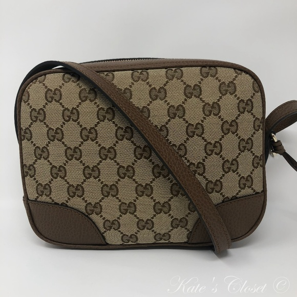 0bf8b437973 NEW GUCCI GG Canvas Dollar Calf Crossbody 449413